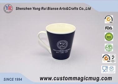 China Fördernde Werbegeschenke White Porcelain Color Changing Mug V Shaped Mug Company distributeur